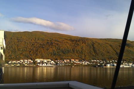 A room with a cat close to the city - Tromsø - 公寓