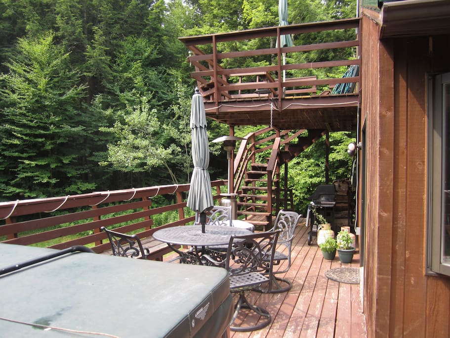Side deck and upstairs deck