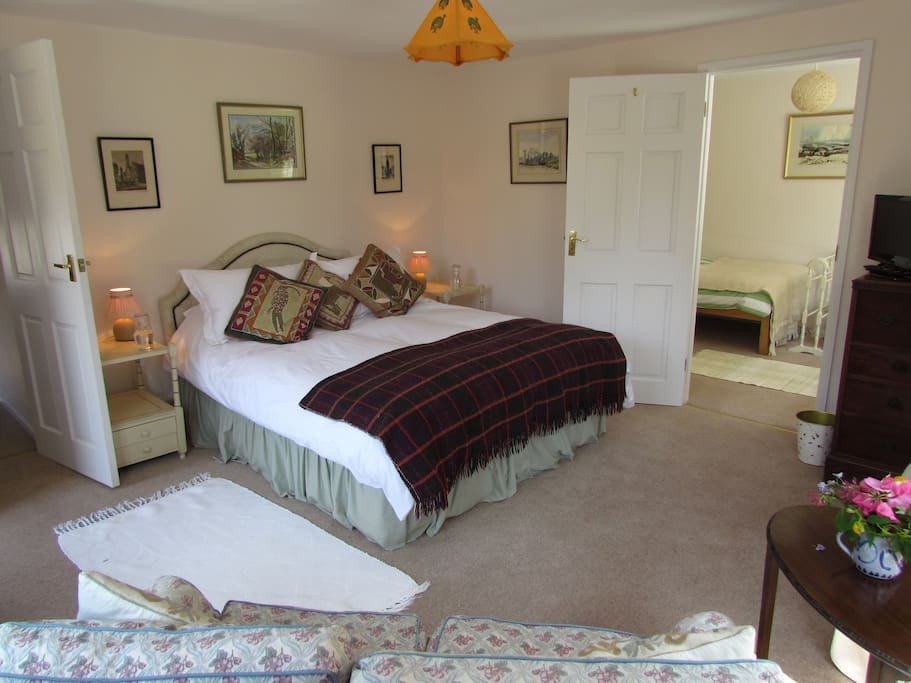 A comfortable bedroom suite for the family