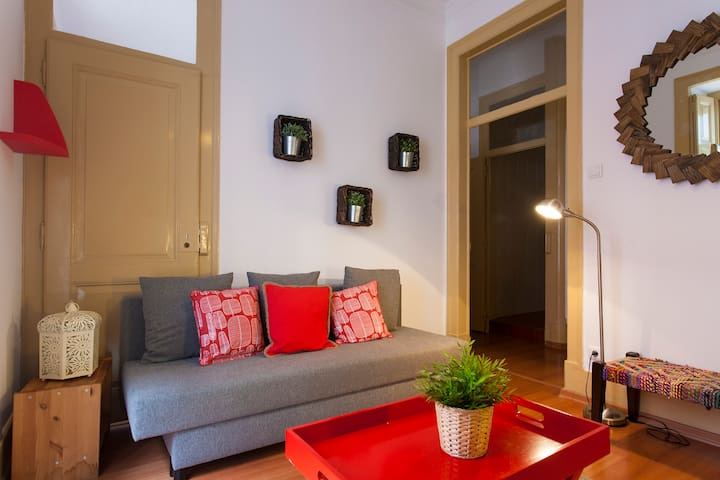 Living Room (with 2 double Sofa Beds)