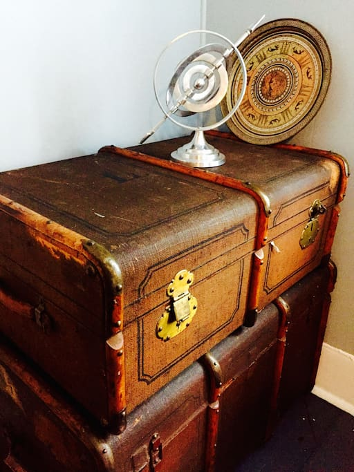 19th century german travel trunks
