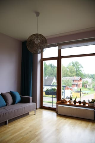 Bright cozy room near forest. - Sigulda