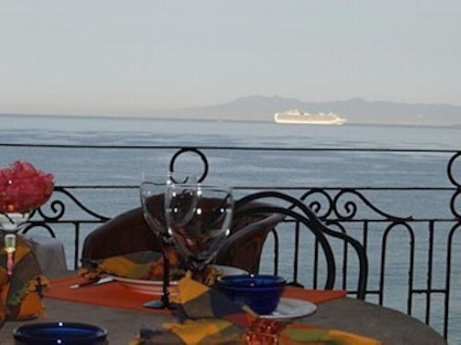 Beautiful Balcony Dining