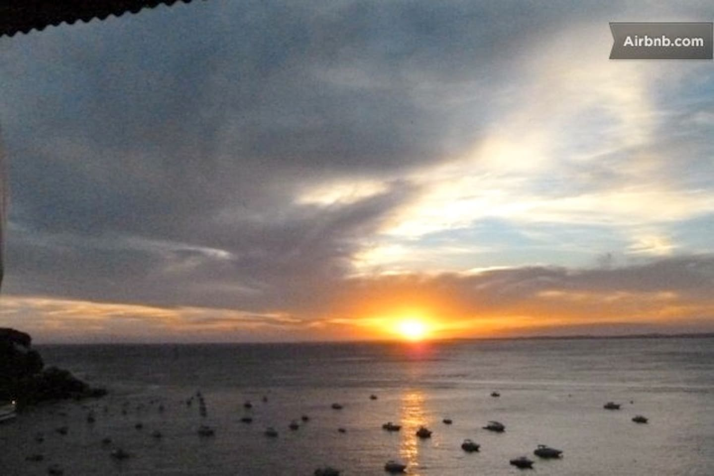 sunset at 6:00 pm daily! taken from the balcony of the aloe room