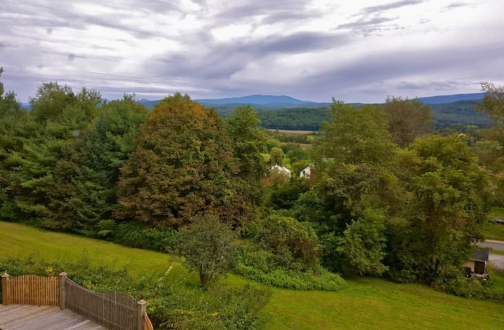 Lovely mountain views from full bedroom in Vermont