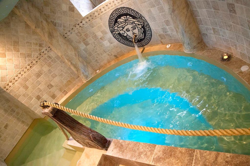 Spa romain privatif avec luminothérapie;