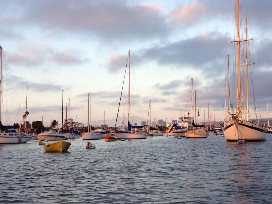 Sail, kayak, SUP or just relax over a glass of wine in Newport Harbor.