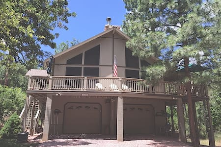 PineTime Cabin in Pine, AZ sleeps 8 - Pine - Rumah