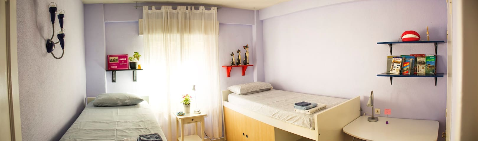 Spacious and bright room - Madrid
