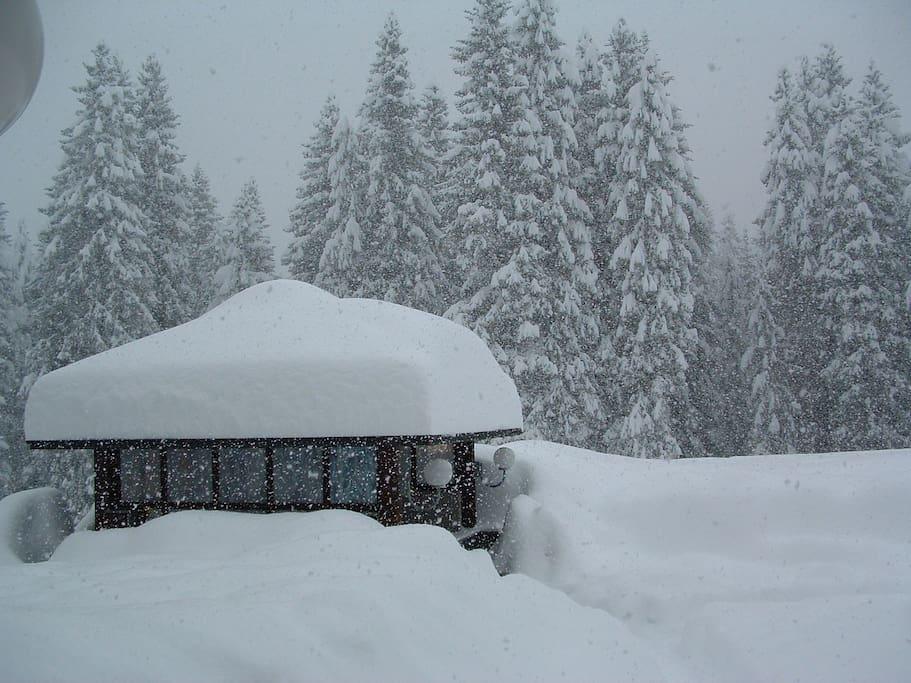 Vista invernale dalla reception