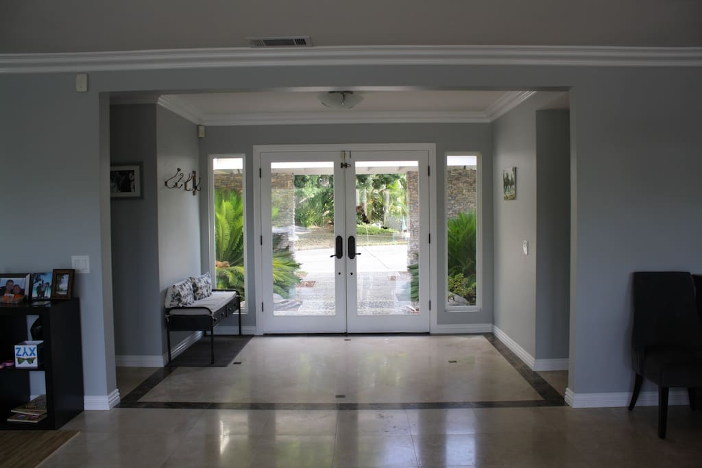 Front entrance viewed from the inside of the home
