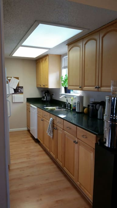 Nice size kitchen with gas stove
