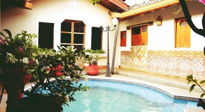 Private room & swimming pool at NGO