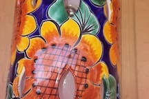 One of the many handmade Talavera pieces featured in our cottage.