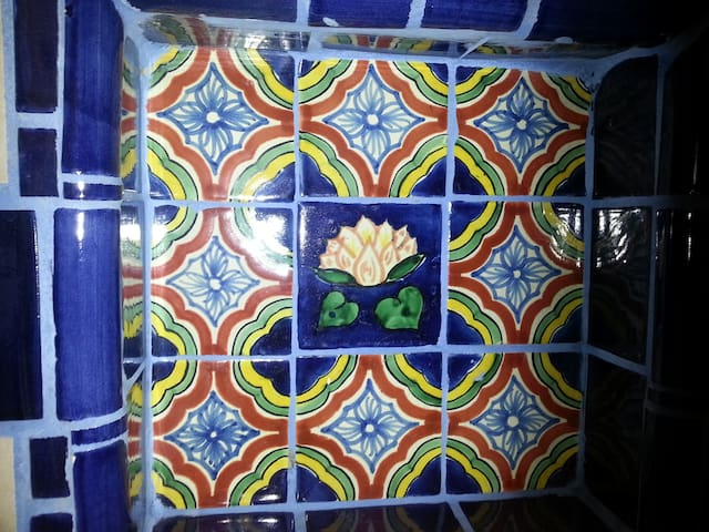 We just love our gorgeous Talavera tiles!