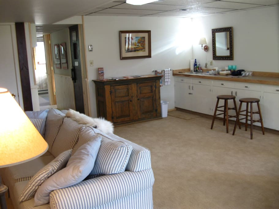 Kitchen area in family room