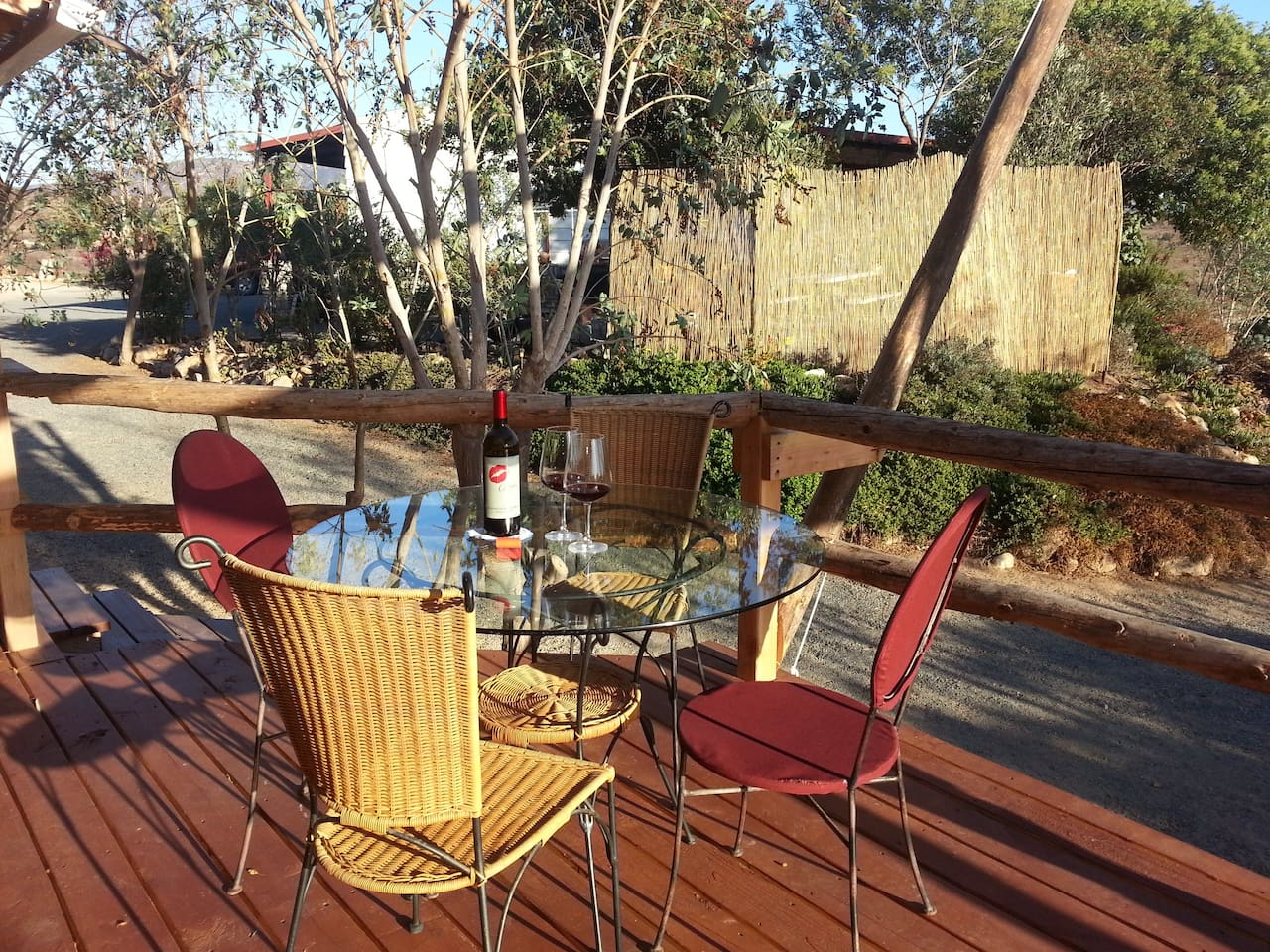 Enjoy a glass of wine or morning coffee on your private attached deck.