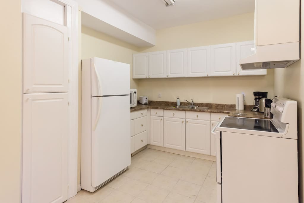 Kitchen loaded with everything you need for your stay.