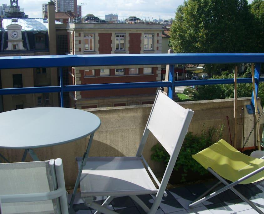 balcon de 4m²