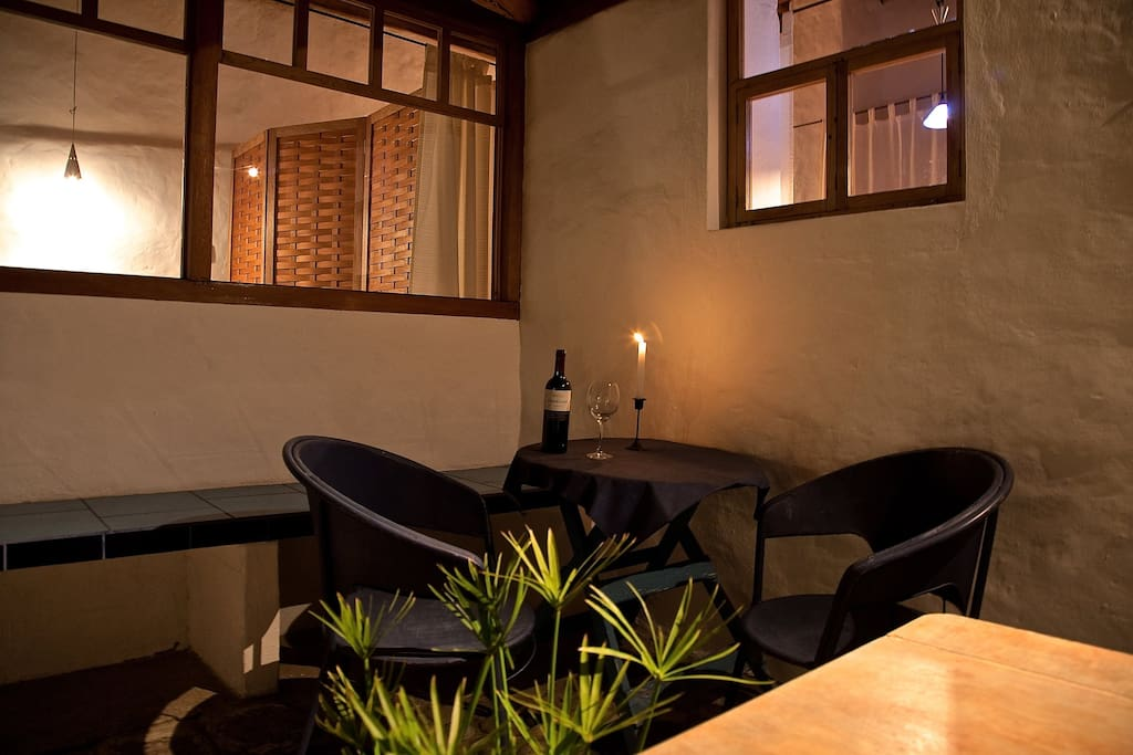 enjoy your terrace at night