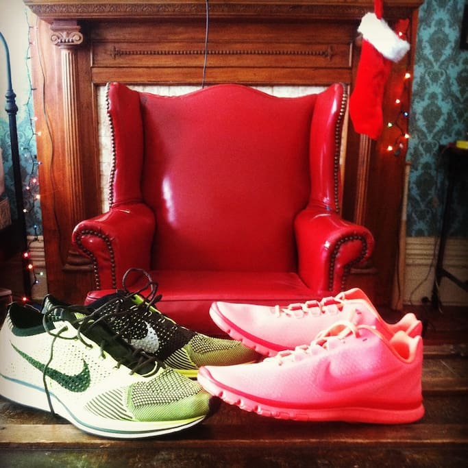 Christmas morning (Santa brought sneakers)