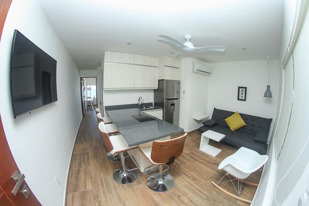 Livingroom, Kitchen, area