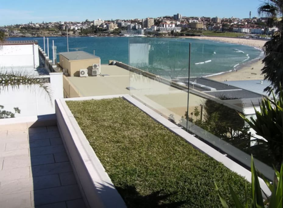 view of Bondi from our balcony
