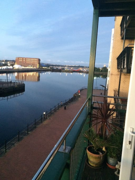 Balcony view of Cardiff Bay