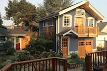 View of the studio from the deck of the house.