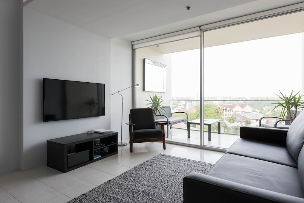 Lounge / Living Room with access to Netflix, 'Apple TV', universal power adaptor & Main Balcony.