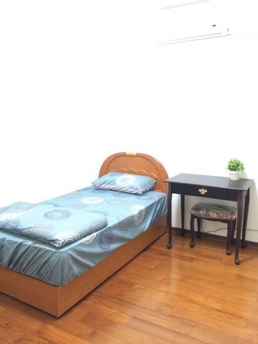 專屬一個使用的單人房空間
