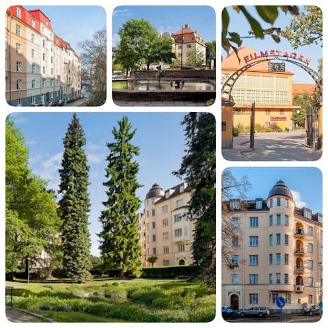 LARGE ROOM(S), BREAKFAST, CLOSE 2 CNTR,10 min subw - Solna - Apartment