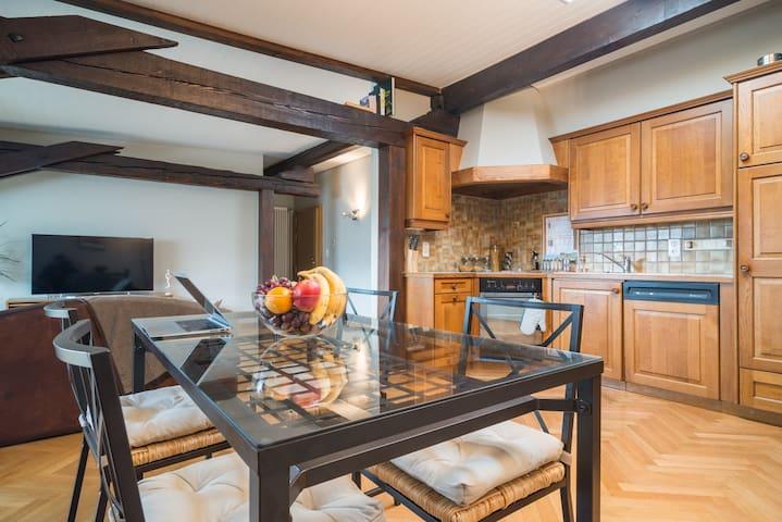Central and spacious 3pc apartment - Genève - Apartment