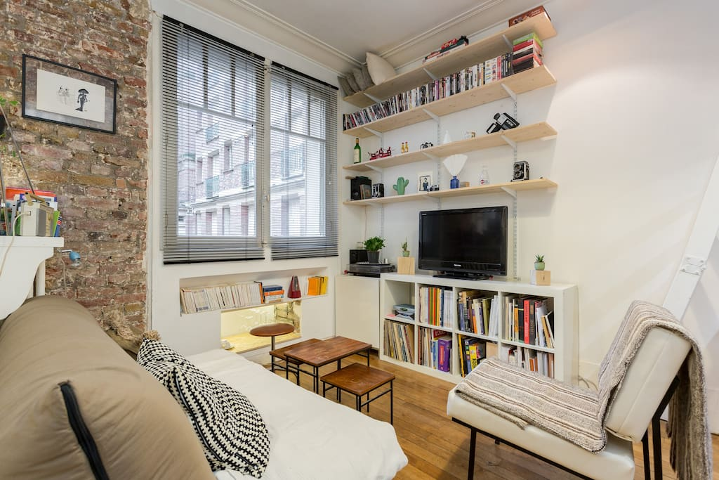 charmant studio paris 15 me appartements louer paris le de france france. Black Bedroom Furniture Sets. Home Design Ideas