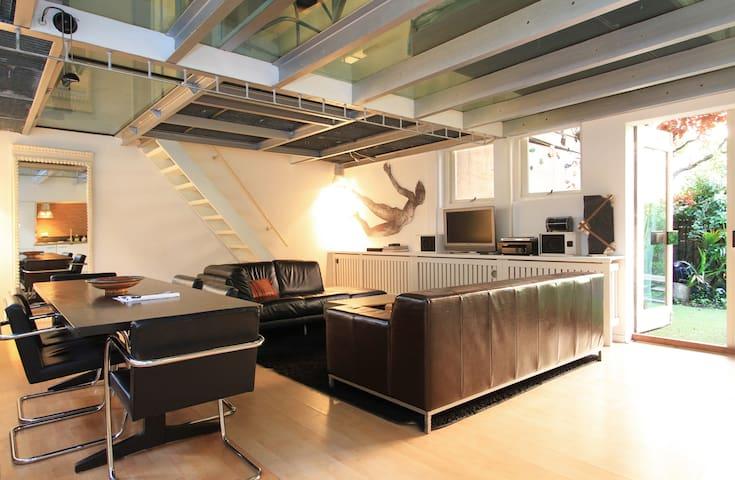 Artistic loft with garden. - Amsterdam - Apartament