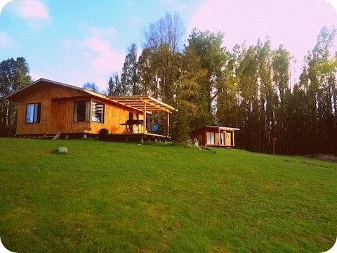 Nouvelle cabane avec vue sur le lac