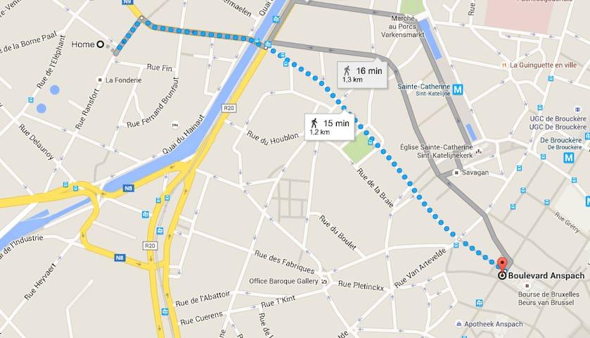 Close to centre with free parking - Sint-Jans-Molenbeek - Loft