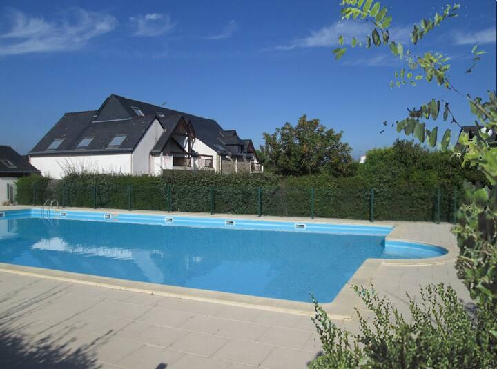 3 pièces en duplex dans résidence avec piscine