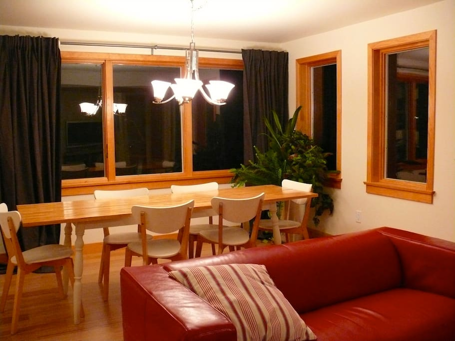 Dinning room at night