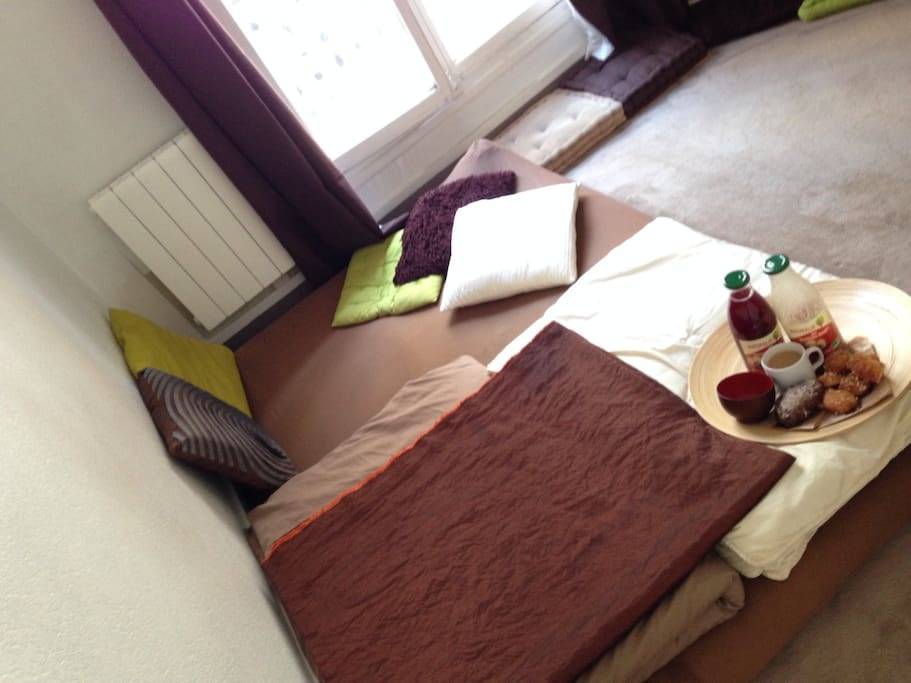 Japanese Futons bed, 1 big bed or 2 single ones