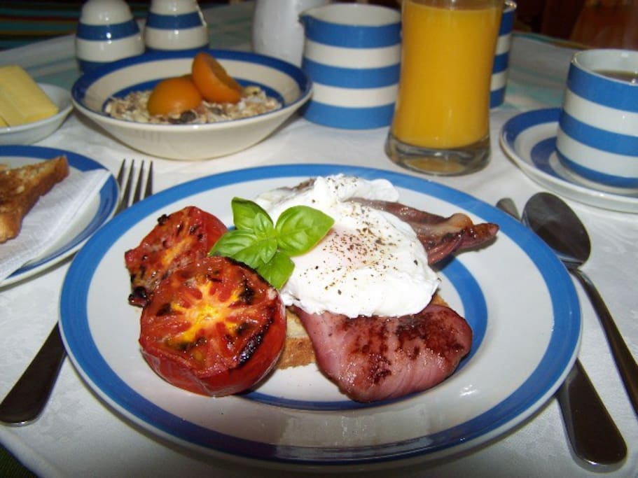 A hearty breakfast to start the day