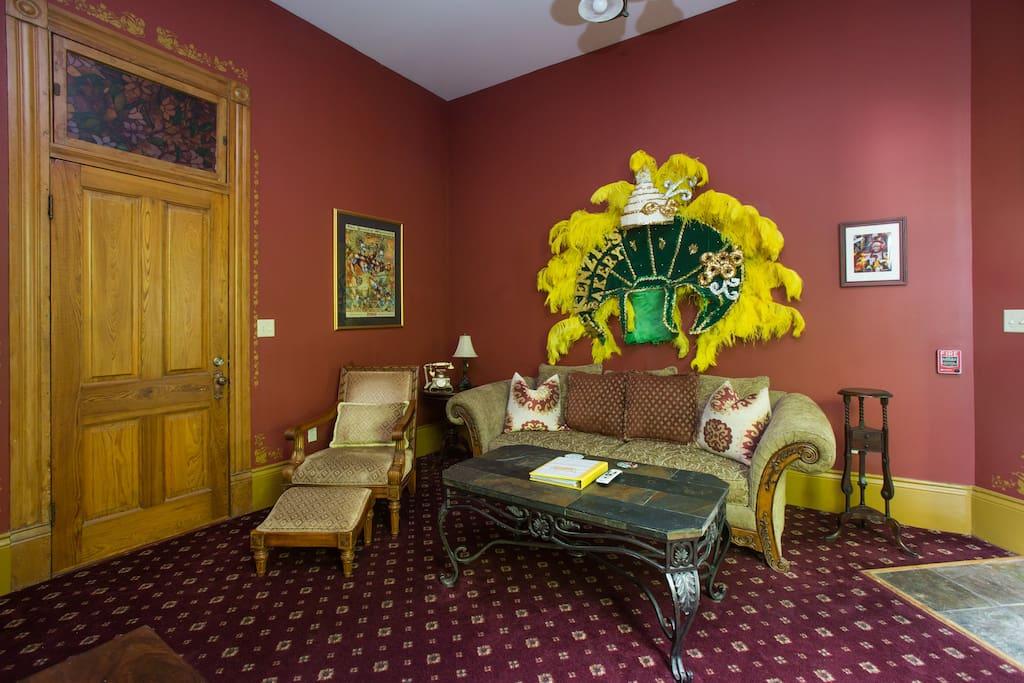 Mardi Gras suite living area