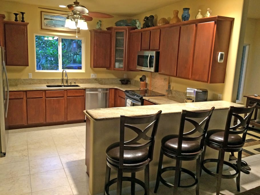 Shared kitchen for making coffee and light meal preparation