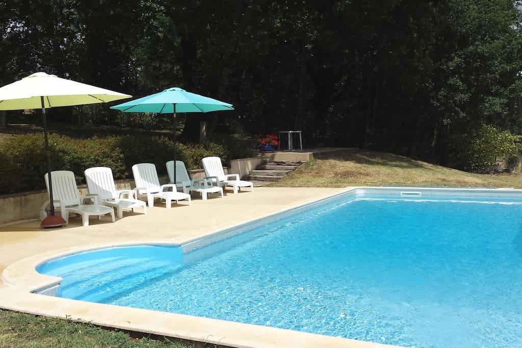 zwembad (5x10) met 180 graden uitzicht