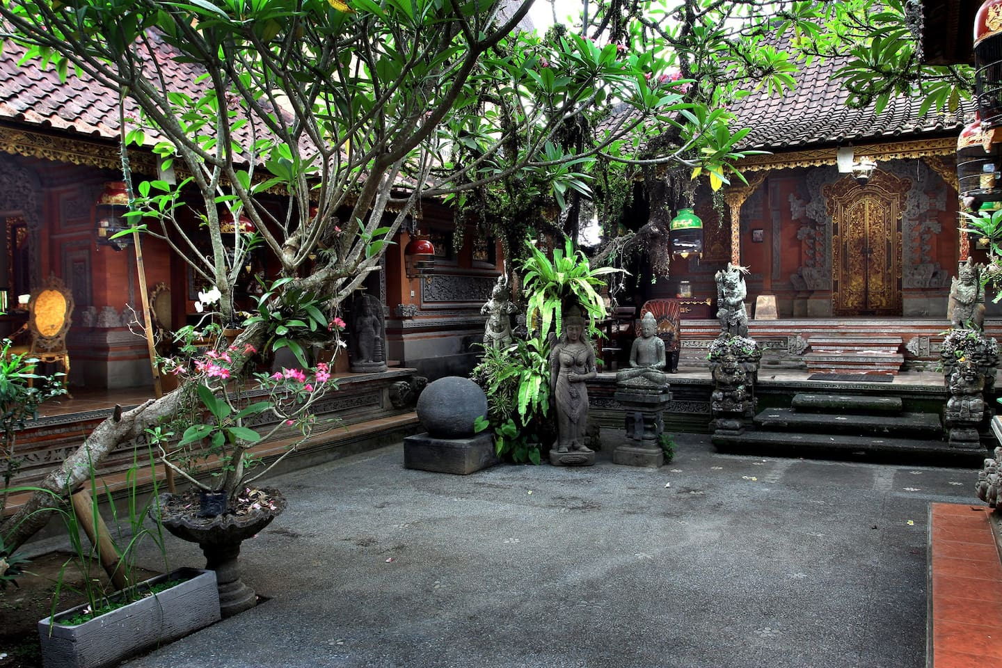 Typical Traditional Balinese compound