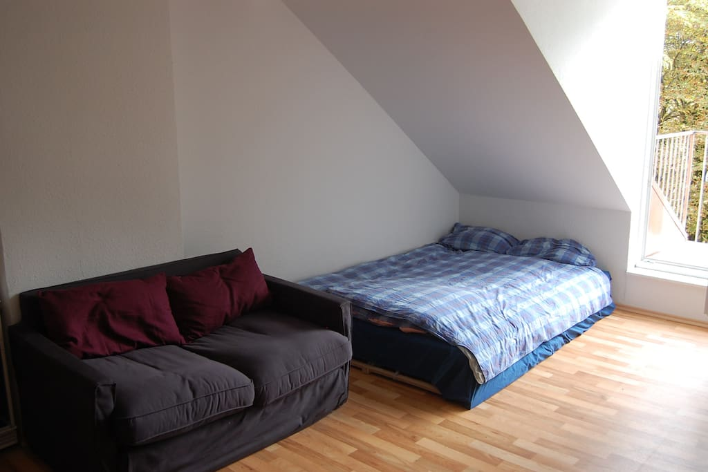 Queen Size Bed + Sofa Bed