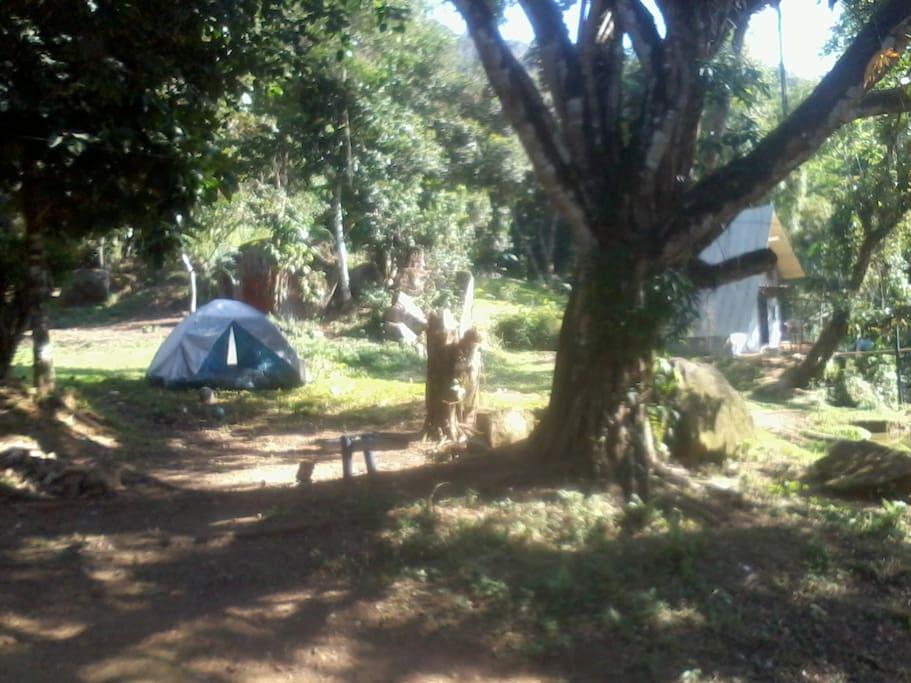 A barraca no campping