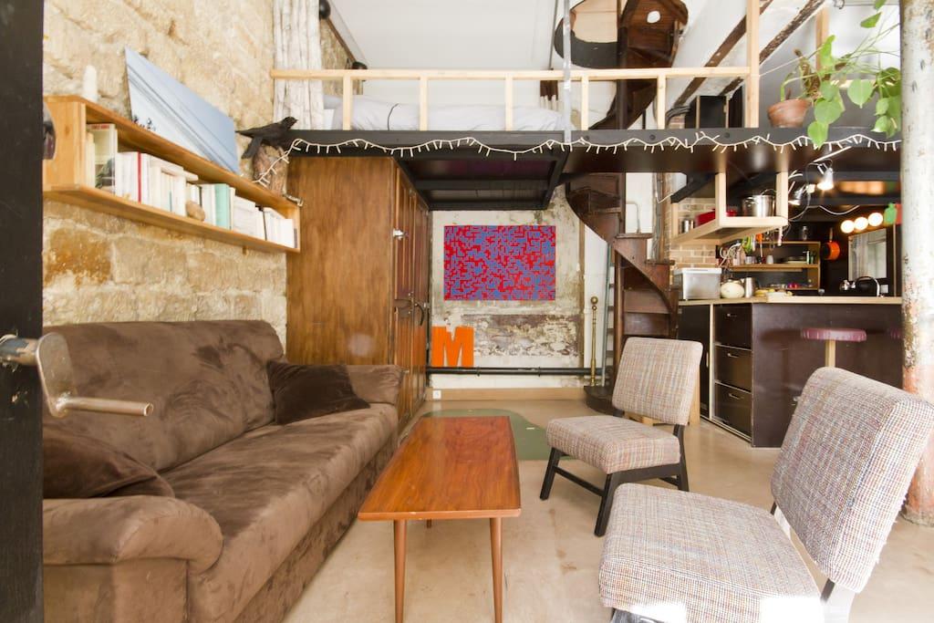 Duplex atypique 70m2 canal stmartin appartements for Duplex appartement atypique