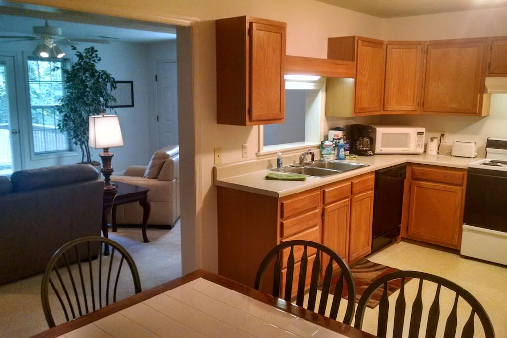Single level apartment or two bedroom town home