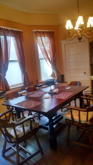 Large dining room seats 8